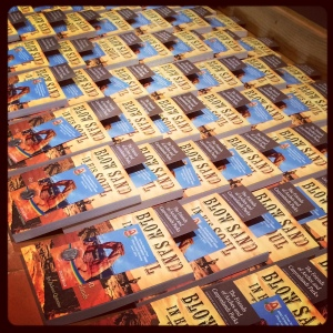 One hundred books signed and ready for the Utah Symphony's major donors.